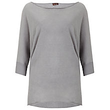 Buy Phase Eight Becca Linen Batwing Jumper, Grey Online at johnlewis.com