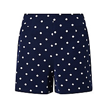 Buy Phase Eight Dillon Spot Shorts, Indigo/Ivory Online at johnlewis.com