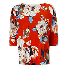 Buy Phase Eight Dara Flower Print Top, Paprika Online at johnlewis.com