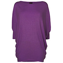 Buy Phase Eight Becca Linen Batwing Jumper, Purple Online at johnlewis.com
