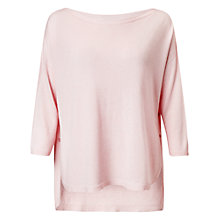 Buy Phase Eight Christina Side Split Jumper, Soft Pink Online at johnlewis.com