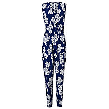 Buy Phase Eight Wanita Floral Jumpsuit, Blue/White Online at johnlewis.com