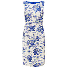 Buy Phase Eight Rose Jacquard Dress, White/Blue Online at johnlewis.com