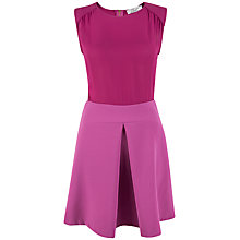 Buy Closet Pleat A-Line Skirt Dress, Fuchsia Online at johnlewis.com
