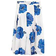 Buy Phase Eight Iona Floral Print Skirt, White/Blue Online at johnlewis.com