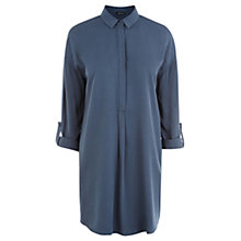 Buy Warehouse Clean Shirt Dress, Light Blue Online at johnlewis.com