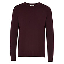Buy HYMN Amman Crew Neck Jumper, Oxblood Online at johnlewis.com
