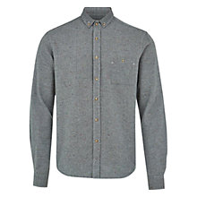 Buy HYMN Barmouth Speck Shirt, Grey Online at johnlewis.com