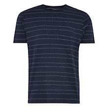 Buy HYMN Cader Spot Print Tee, Navy/White Online at johnlewis.com