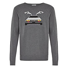 Buy HYMN Cairphilly Back to the Future Jumper, Grey Online at johnlewis.com