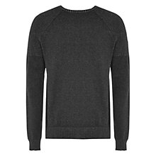 Buy HYMN Arnold Crew Neck Jumper, Charcoal Online at johnlewis.com