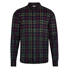 Buy HYMN Bruce Check Shirt, Navy Online at johnlewis.com