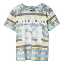 Buy Mango Kids Boys' Tropical Print T-Shirt, Turquoise Multi Online at johnlewis.com