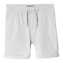 Buy Mango Kids Cotton Jogging Shorts, Pastel Grey Online at johnlewis.com