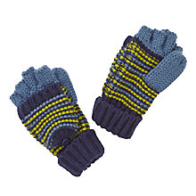 Buy John Lewis Triple Fine Stripe Flip Gloves, Blue Online at johnlewis.com