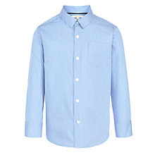 Buy John Lewis Boy Mini Check Shirt, Blue Online at johnlewis.com