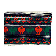 Buy John Lewis Robot Intarsia Knit Snood, Navy Online at johnlewis.com