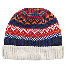 Buy John Lewis Fairisle Beanie Hat, Multi Online at johnlewis.com