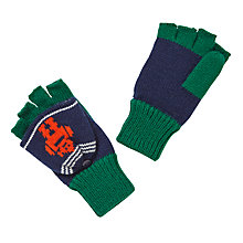 Buy John Lewis Robot Intarsia Flip Top Gloves, Navy/Green Online at johnlewis.com