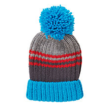 Buy John Lewis Varied Chunky Stripe Beanie, Grey Online at johnlewis.com