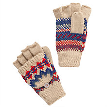 Buy John Lewis Multi Fair Isle Gloves, Beige Online at johnlewis.com