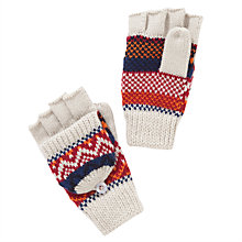 Buy John Lewis Fair Isle Gloves, Beige Online at johnlewis.com
