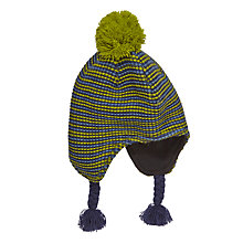Buy John Lewis Boy Triple Fine Stripe Trapper, Green/Blue Online at johnlewis.com