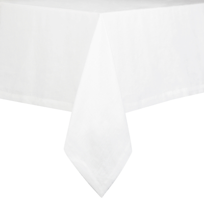 John Lewis Croft Linen Tablecloth, White
