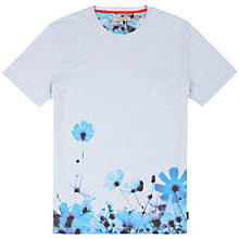 Buy Ted Baker Duston Floral Print T-Shirt, Bright Blue Online at johnlewis.com