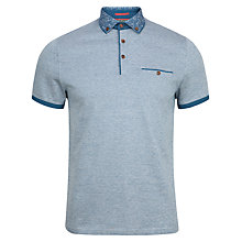 Buy Ted Baker Crayzeb Zebra Printed Collar Polo Shirt Online at johnlewis.com