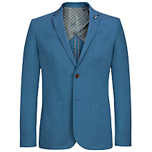Buy Ted Baker Eyod Cotton Blazer, Blue Online at johnlewis.com