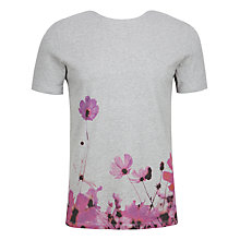 Buy Ted Baker Duston Floral Print T-Shirt, Pink Online at johnlewis.com