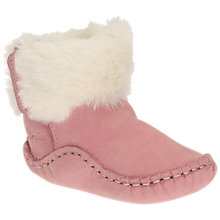 Buy Clarks Baby Cuddle Pre Walker Shoes, Pink Online at johnlewis.com