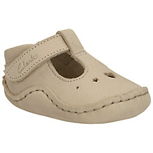 Buy Clarks Baby Toy Pre-Walker Shoes, Cream Online at johnlewis.com
