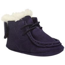 Buy Clarks Pre Walker Baby Halo Shoes, Navy Online at johnlewis.com