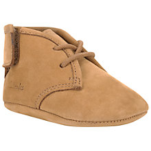 Buy Clarks Baby Warm Pre Walker Shoes, Brown Online at johnlewis.com