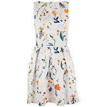 Buy Closet Cosmea Flower Pleat Cotton Dress, Multi Online at johnlewis.com