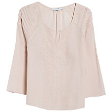 Buy Mango Embroidered Cotton Blouse, Wild Aster Online at johnlewis.com