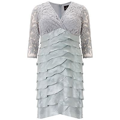 Adrianna Papell Plus Size Shimmer Dress, Icy Mint