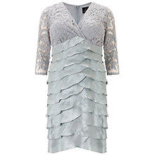 Buy Adrianna Papell Plus Size Shimmer Dress, Icy Mint Online at johnlewis.com