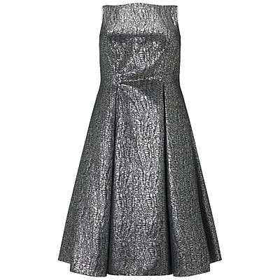 Adrianna Papell Plus Size Sleeveless Cocktail Dress, Black/Silver