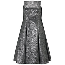 Buy Adrianna Papell Plus Size Sleeveless Cocktail Dress, Black/Silver Online at johnlewis.com
