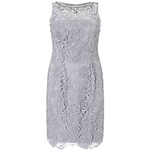 Buy Adrianna Papell Plus Size Sleeveless Lace Dress, Light Dove Online at johnlewis.com