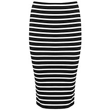 Buy Miss Selfridge Petite Stripe Pencil Skirt, Navy Online at johnlewis.com