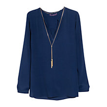 Buy Violeta by Mango Decorative Chain Blouse Online at johnlewis.com