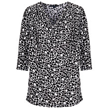 Buy French Connection Amakhala Jersey Top, Winter White/Black Online at johnlewis.com