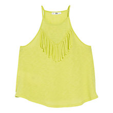 Buy Mango Fringe Vest, Lemon Online at johnlewis.com