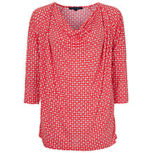 Buy French Connection Mosaic Top, Havana Red/White Online at johnlewis.com