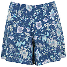 Buy Miss Selfridge Petite Floral Shorts, Blue Online at johnlewis.com