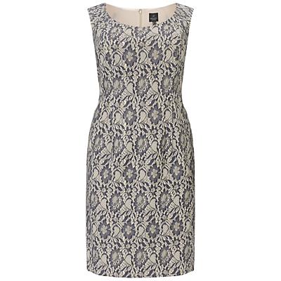 Adrianna Papell Plus Size Metallic Lace Cocktail Dress, Gunmetal